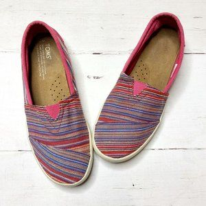 TOMS Multicolored Woven Flats 7